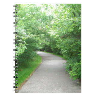 Walking path notebook