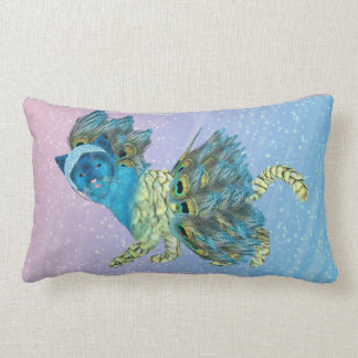 Walking Peacock Kitty 1 Lumbar Pillow