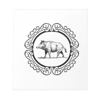 walking pig circle notepad