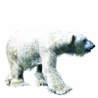 Walking POLAR BEAR sculpted Wildlife Gift Item Statuette