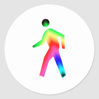 Walking Rainbow Man Stickers