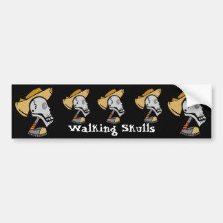 Walking Skulls Bumper Stickers