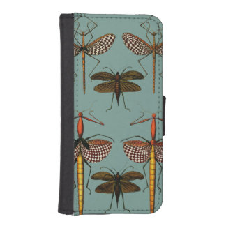 Walking sticks, Katydids and Dragonflies Wallet Phone Case For iPhone SE/5/5s