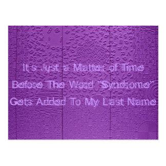 Walking Syndrome Postcard
