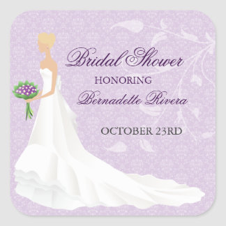 Walking the Aisle Bridal Shower Sticker