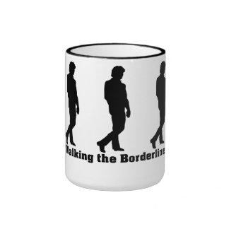 Walking the Borderline New Design 1 Ringer Mug