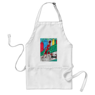 Walking the Dachshund Adult Apron