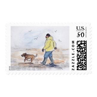 Walking the dog - 01 postage