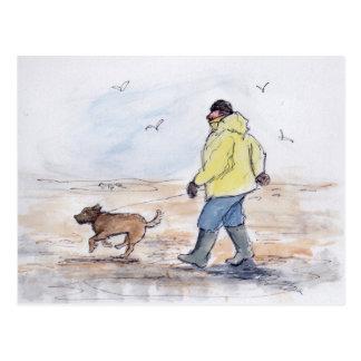 Walking the dog - 01 postcard
