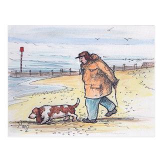 Walking the dog - 02 postcard