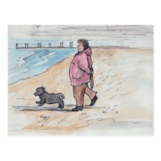 Walking the dog - 03 postcard