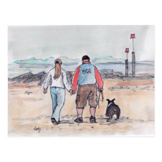 Walking the dog - 04 postcard