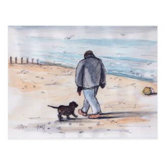 Walking the dog - 05 postcard