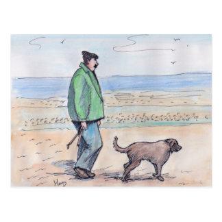 Walking the dog - 06 postcard