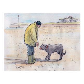 Walking the dog - 08 postcard