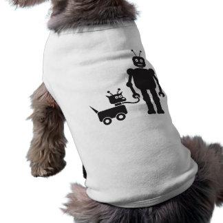 Walking the Dog-Bot Pet Tshirt