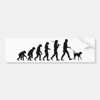 Walking The Dog Car Bumper Sticker