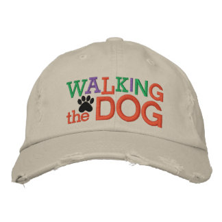 Walking the Dog Cap by SRF Embroidered Baseball Caps