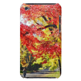 Walking The Dog In Autumn Barely There iPod Case
