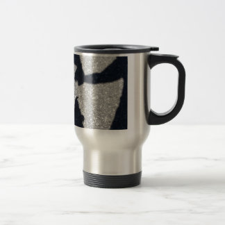 Walking the dog in shadow and light mug