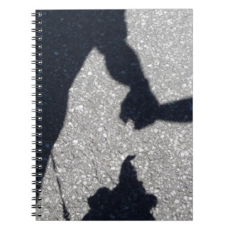 Walking the dog in shadow and light notebooks