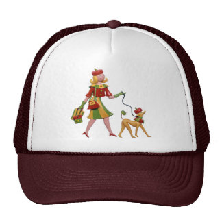 Walking the dog in style! hats