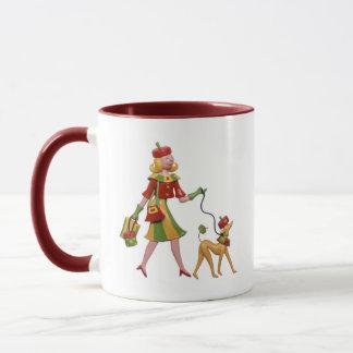 Walking the dog in style! mug