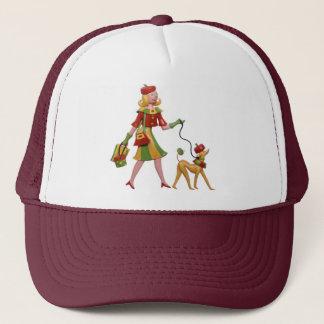 Walking the dog in style! trucker hat