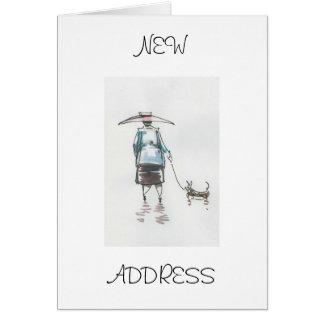 Walking The Dog New Address Card