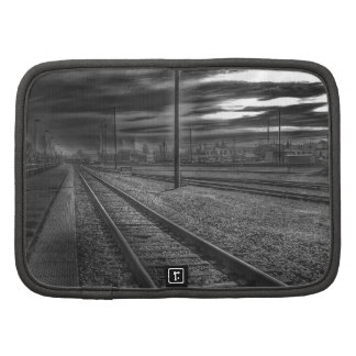 Walking the Rails Black and White Photograph Folio Planners