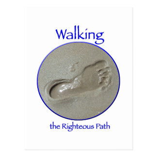 Walking the Righteous Path Notecard Postcard