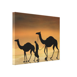 Walking The Sahara Canvas Print