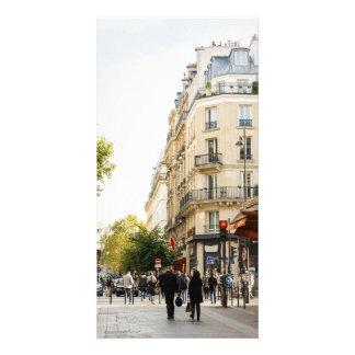 Walking through a parisian street card