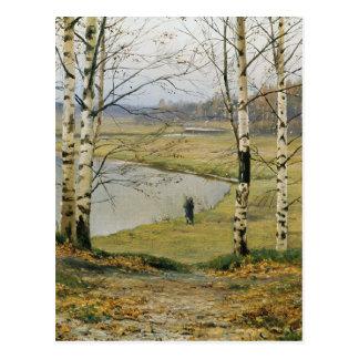 Walking through an Autumn Meadow Postcard