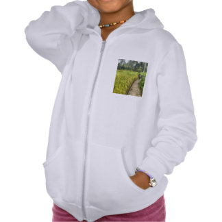 Walking through some fields hooded pullover