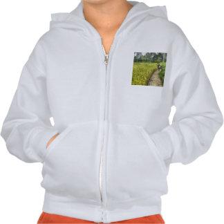 Walking through some fields hoody