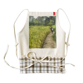 Walking through some fields zazzle HEART apron