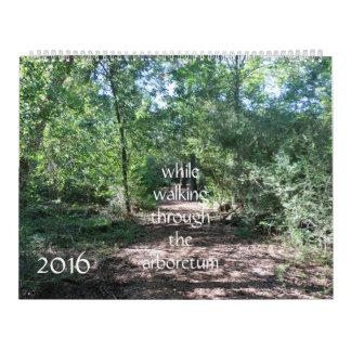 walking through the arboretum, nature calender calendar