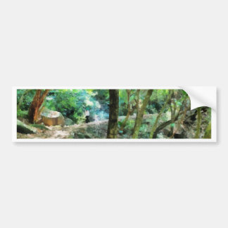 Walking through the forest bumper sticker