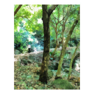 Walking through the forest letterhead