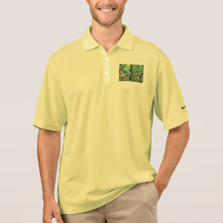 Walking through the forest polo shirt