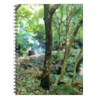 Walking through the forest spiral notebook