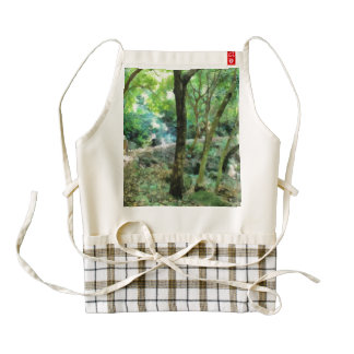 Walking through the forest zazzle HEART apron