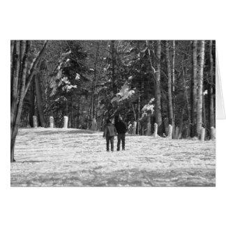 Walking Through the Woods Card