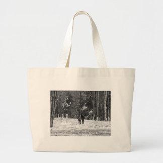Walking Through the Woods Jumbo Tote Bag