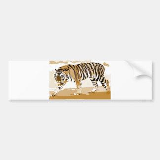 Walking Tiger Pop Art Bumper Sticker
