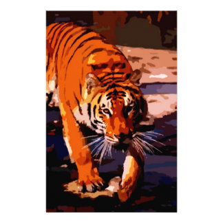 Walking Tiger Personalized Stationery