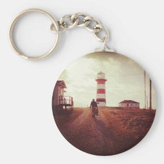 Walking To The Lighthouse Keychains