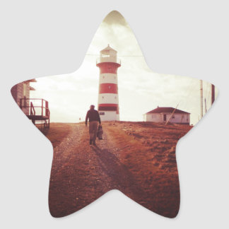Walking To The Lighthouse Star Sticker