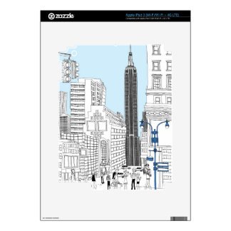 Walking Tourists Decals For iPad 3